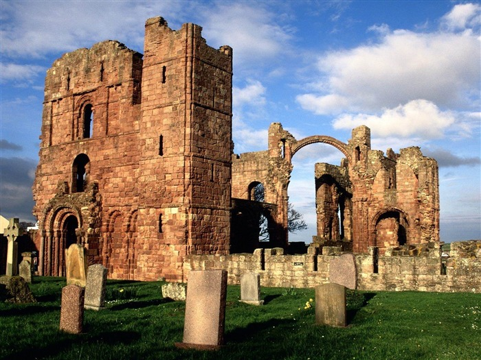 lindisfarne priory-England Landscape Wallpaper Views:5317