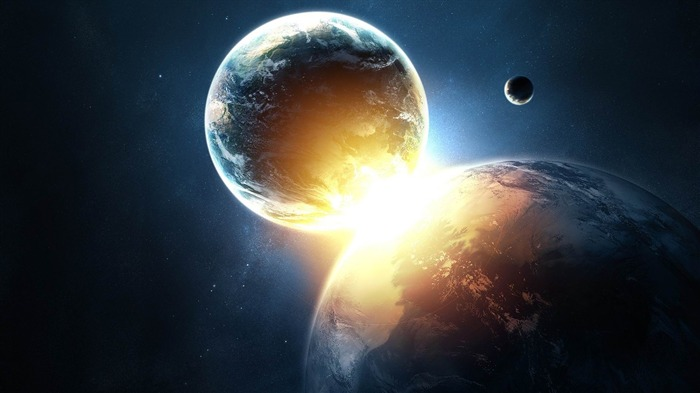 planets collide-universe space wallpaper Views:9953