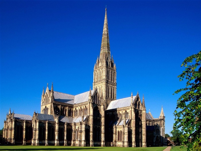 salisbury cathedral-England Landscape Wallpaper Views:5890