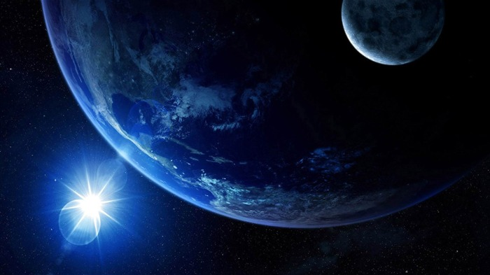 shine to earth-universe space wallpaper Views:10378
