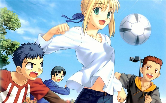 soccer girl-Anime characters wallpaper Views:7249