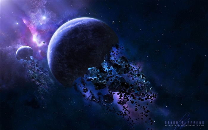 space asteroids-universe space wallpaper Views:25008
