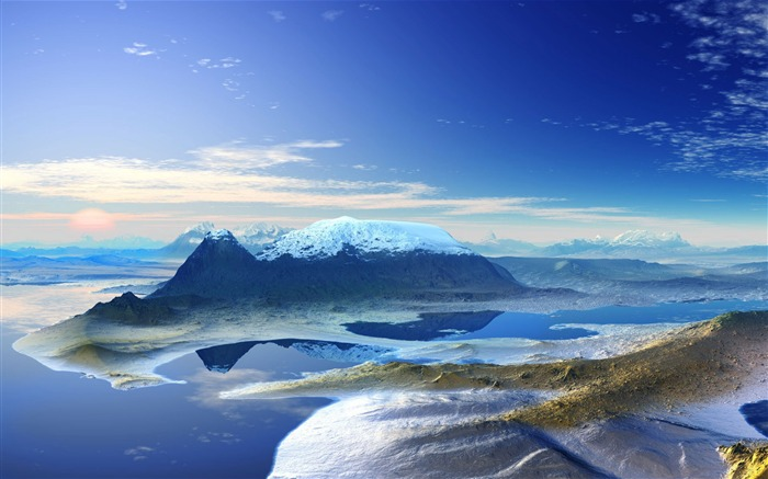 3d panoramic-Nature Landscape Wallpaper Views:14625