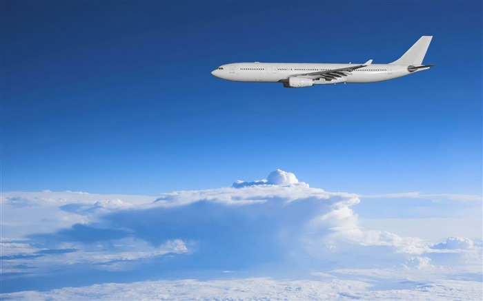 Airbus above the clouds-Aircraft transport Wallpaper Views:7259