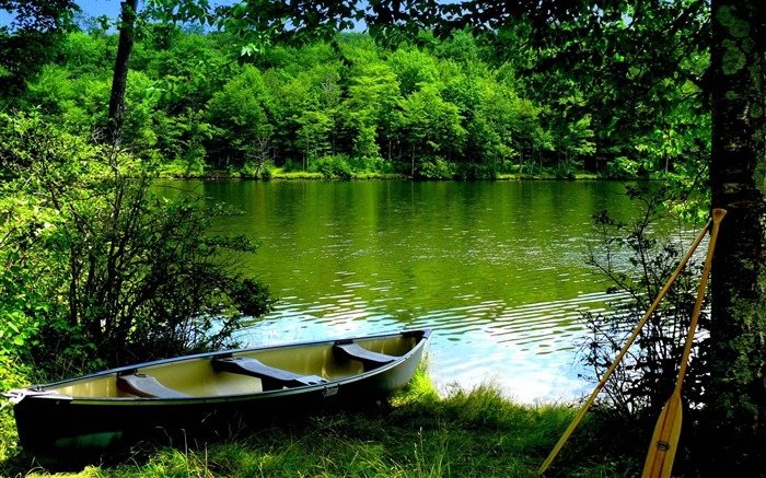 Green Lake-Nature Landscape Wallpaper Views:15807