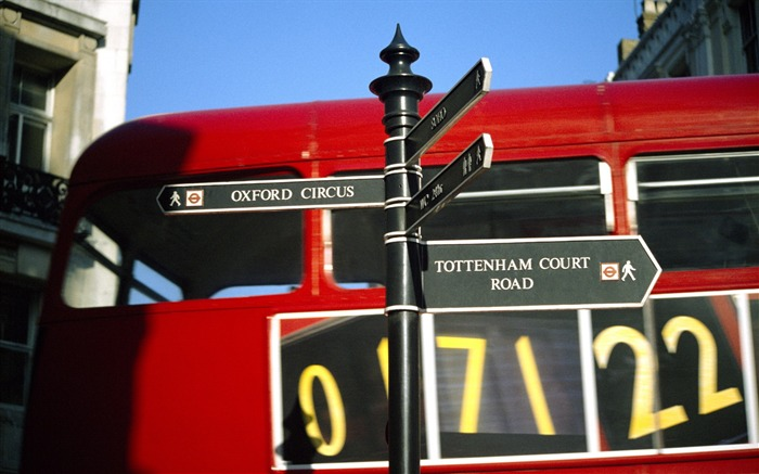 London red double-decker bus-London Photography Wallpapers Views:8616
