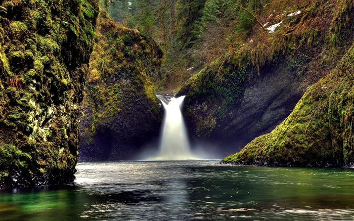 amazing waterfall-Nature Landscape Wallpaper Views:5785