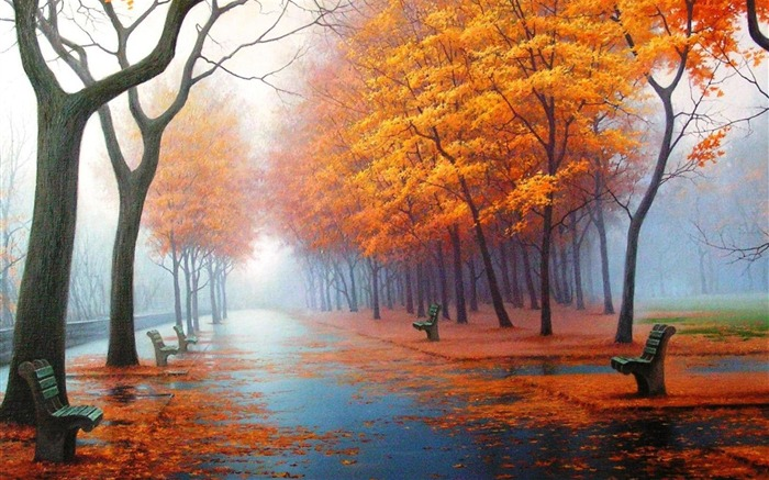 awesome Autumn-natural landscape wallpaper Views:18307