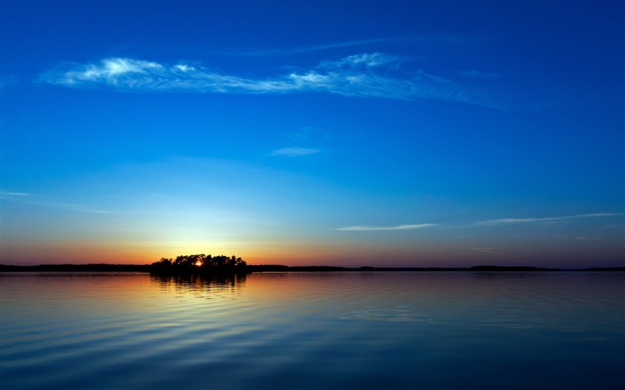 blue sunset-Nature Landscape Wallpaper Views:5918
