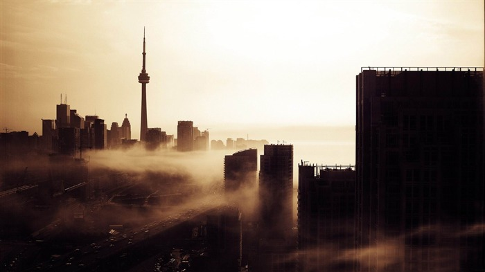 city fog-Vintage style wallpaper Views:4609
