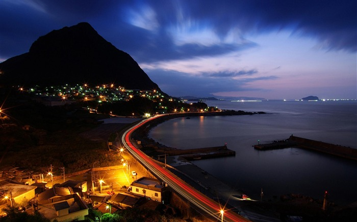 night view seaside-Cities photography wallpaper Views:9183