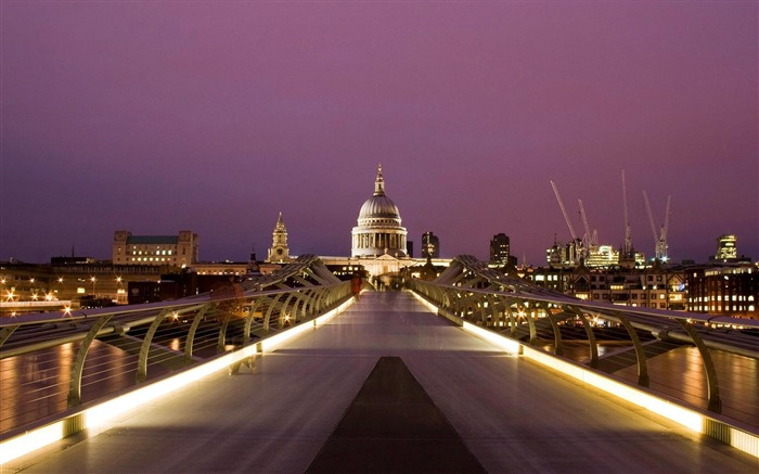st-pauls cathedral millenium bridge-Cities photography wallpaper Views:9404