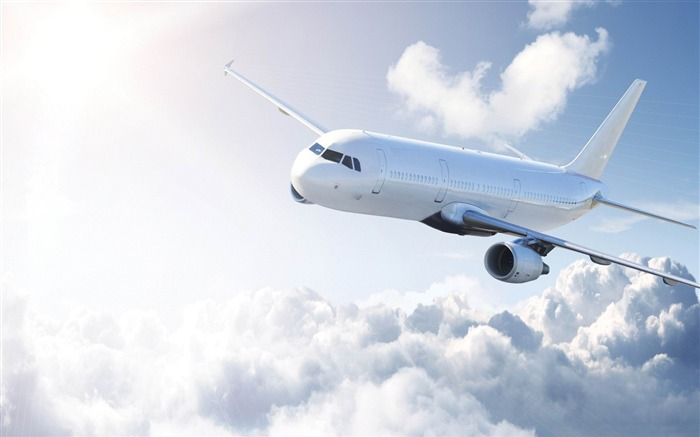 white airplane-Aircraft transport Wallpaper Views:14357