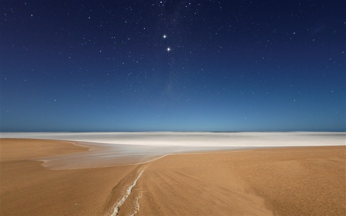 Beach and Stars-Nature landscape wallpaper Views:6979