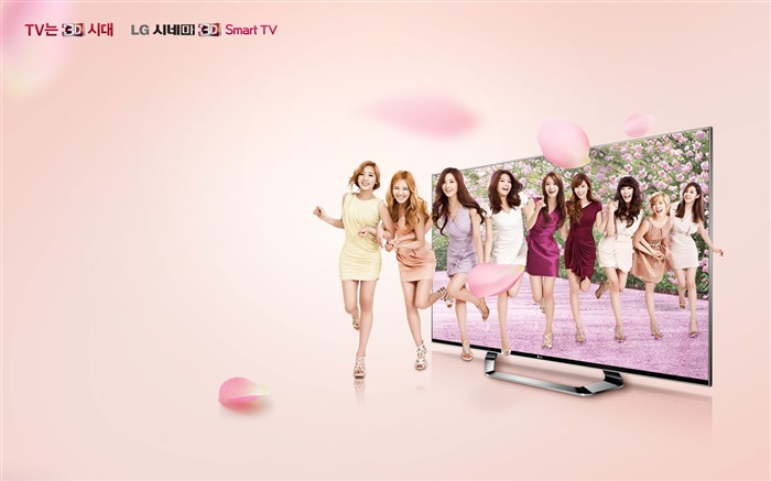 Girls Generation LG TV Advertising Wallpaper Views:7868