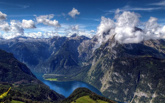alps-Summer landscape wallpaper Views:40160