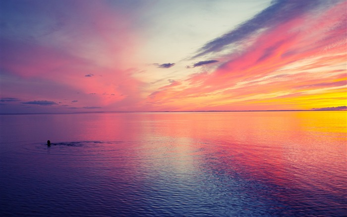beautiful sunset at sea-landscape photo wallpapers Views:55604