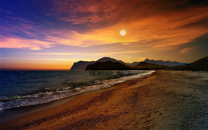 crimea beach-Summer landscape wallpaper Views:5609