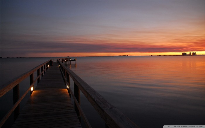 dock after sunset-Nature Wallpapers Views:4064