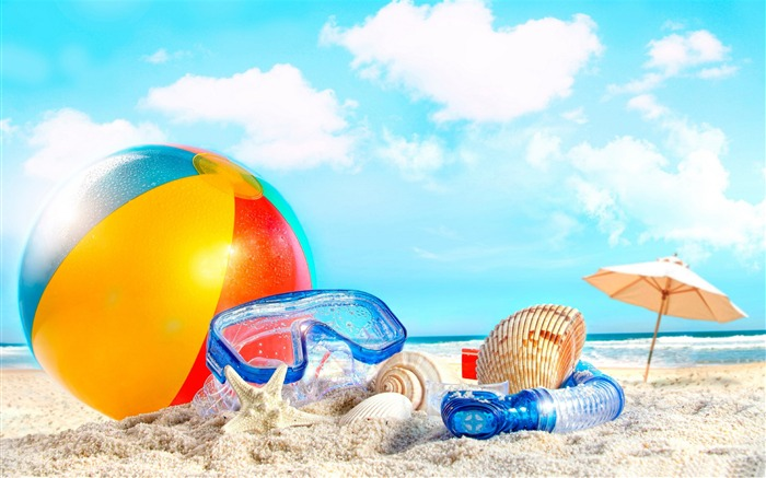 holiday-Summer landscape wallpaper Views:25513