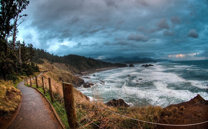 path near ocean-landscape photo wallpapers Views:4958