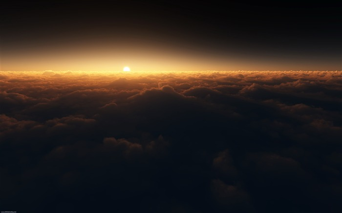 sun above the clouds-Nature Wallpapers Views:8313