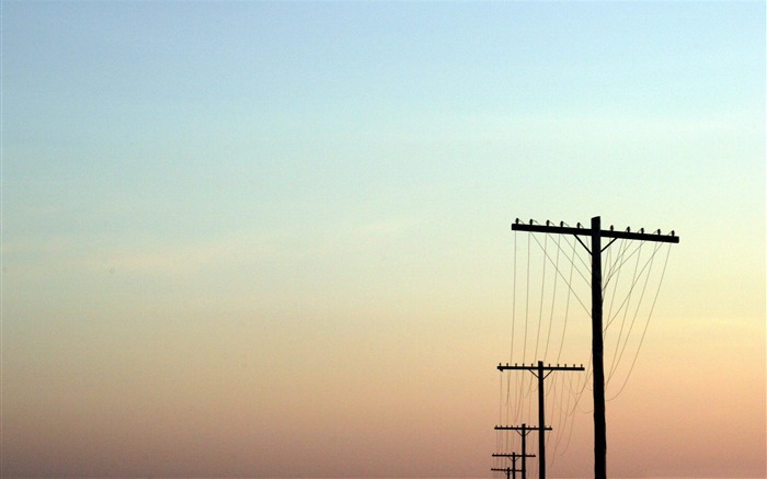 telegraph poles-Nature Wallpapers Views:4674