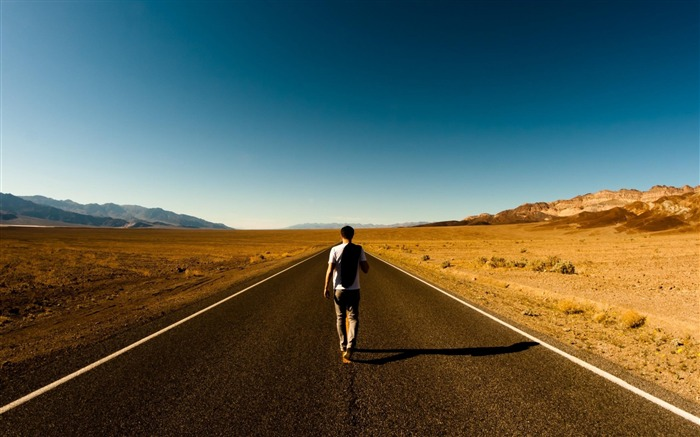 walking alone -High Quality wallpaper Views:7340