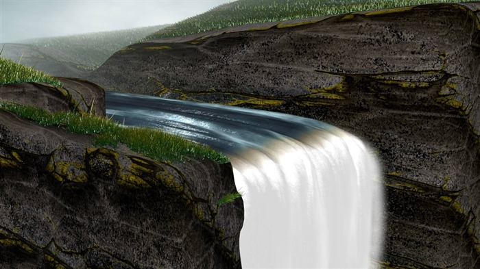 waterfall-landscape photo wallpapers Views:4086