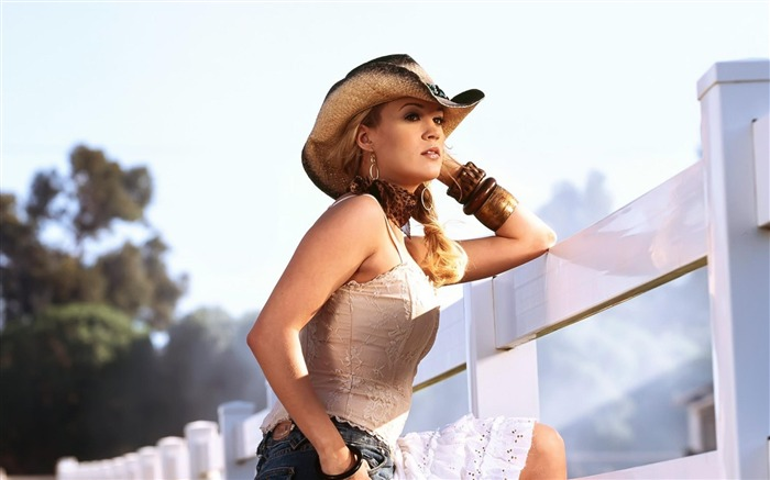 Carrie Underwood Cowgirl Singer-Beautiful photo wallpaper Views:15526