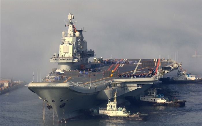 Chinese aircraft carrier 16th HD photography wallpaper Views:11456