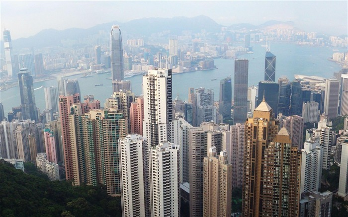 Hong Kong Skyline China-City photography wallpaper Views:26885