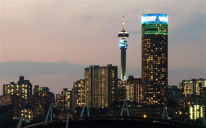Johannesburg City Lights South Africa-City photography wallpaper Views:12645