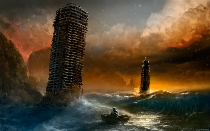Romantically Apocalyptic creative painting wallpaper 10 Views:5366