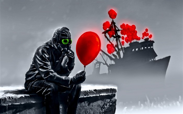 Romantically Apocalyptic creative painting wallpaper 12 Views:5422