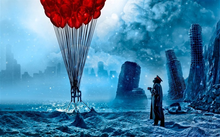 Romantically Apocalyptic creative painting wallpaper Views:11184