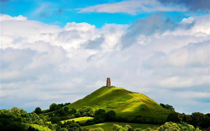 St Michaels Tower Glastonbury England-natural scenery wallpaper Views:18301