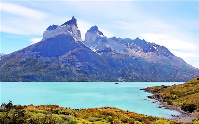 Torres del Paine National Park Chile-natural scenery wallpaper Views:18953