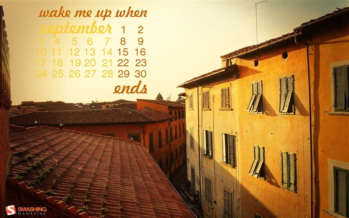 September 2012 calendar desktop themes wallpaper Views:11681