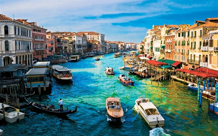 canal grande venice-City photography wallpaper Views:110646