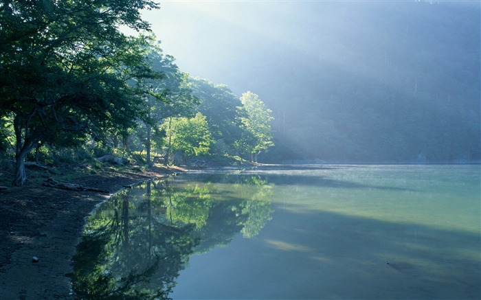 green lake in forest-Nature Landscape Wallpapers Views:12189