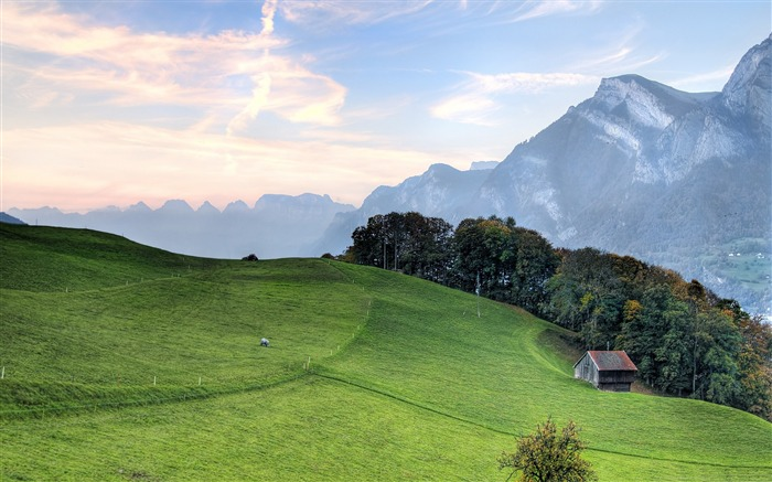 mountain pasture-Nature Landscape Wallpapers Views:11864
