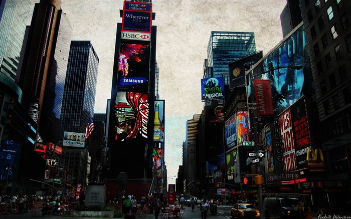 times square-City photography wallpaper Views:7033