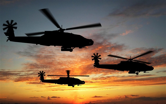 Apache Helicopters-Modern aircraft Wallpaper Views:8049