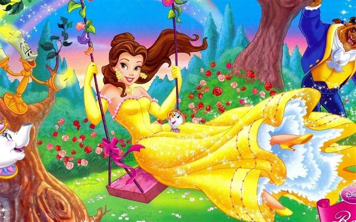 美女与野兽迪士尼-动漫设计高清壁纸