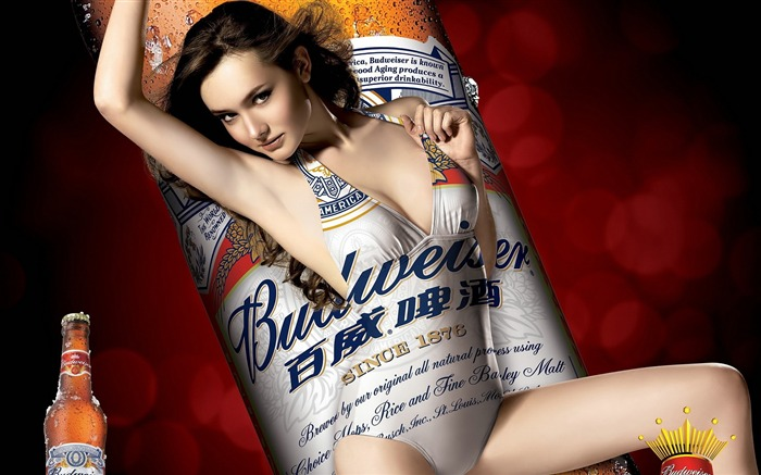 Budweiser girl Advertising desktop HD Wallpapers 03 Views:27779