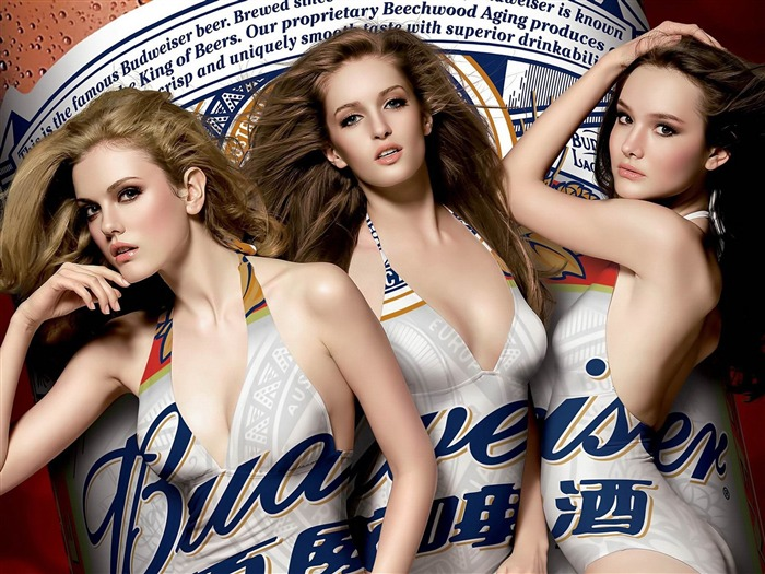 Budweiser girl Advertising desktop HD Wallpapers Views:12227