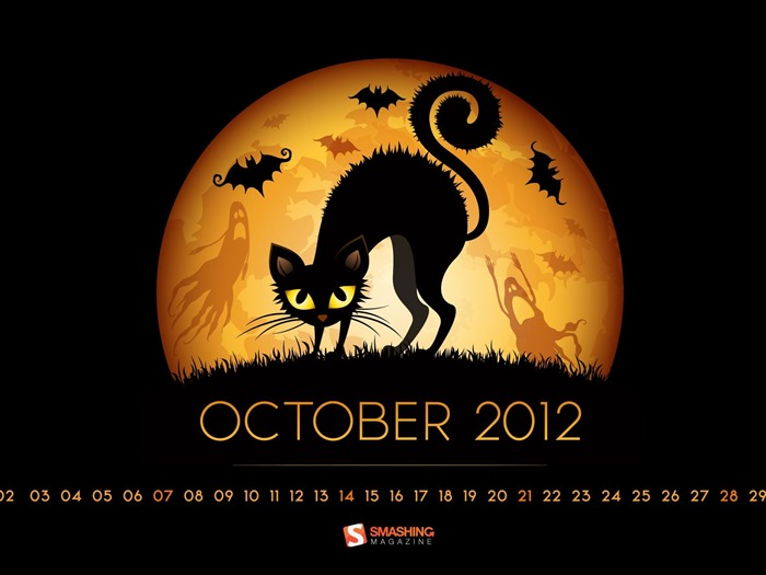 October 2012 calendar desktop themes wallpaper Views:15036