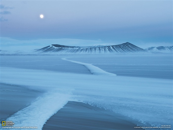 Hverfjall Crater Iceland-National Geographic photography wallpaper Views:7087