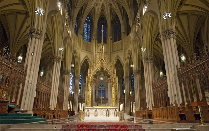 New York st patrick cathedral-Cities architectural Wallpaper Views:6247